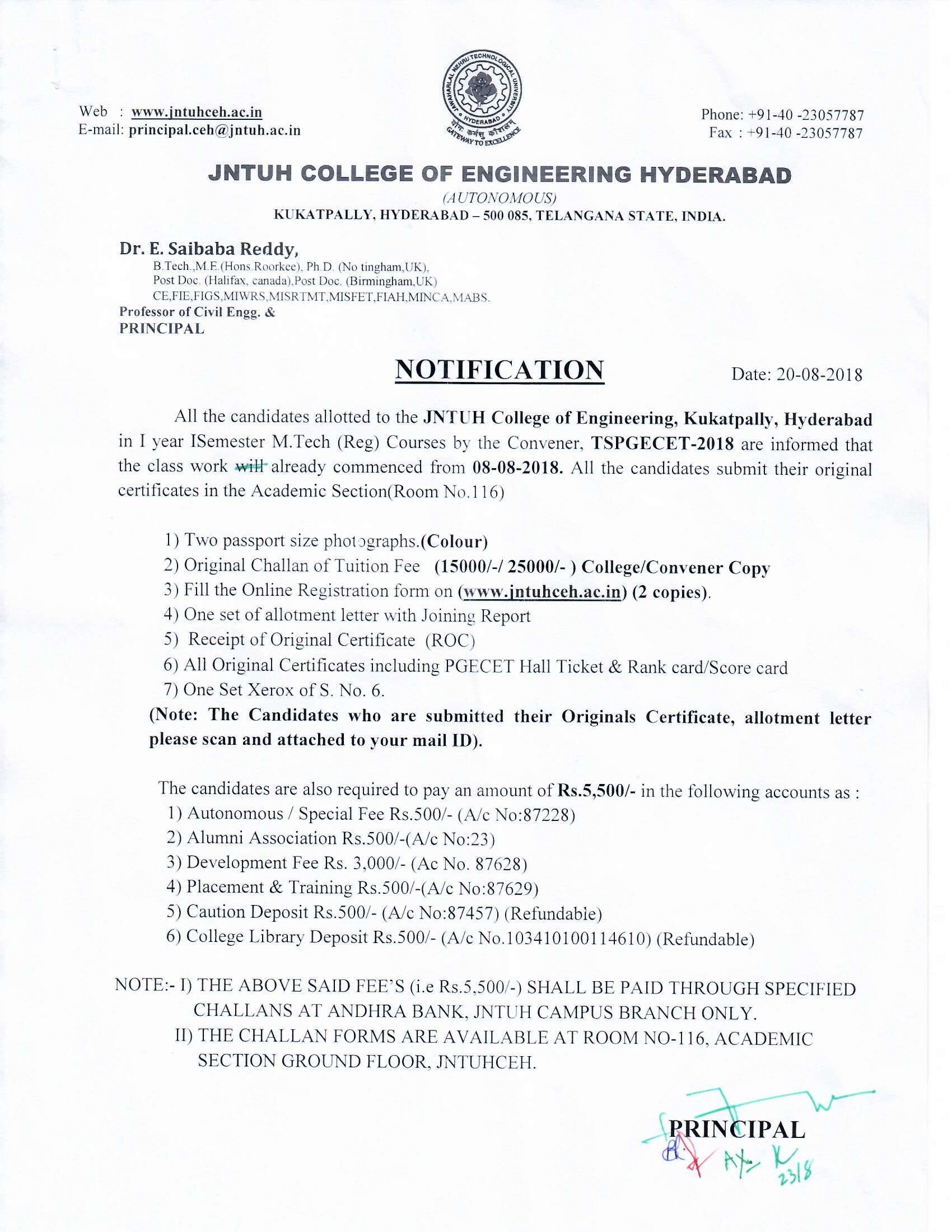 JNTUH College of Engineering Hyderabad (Autonomous)