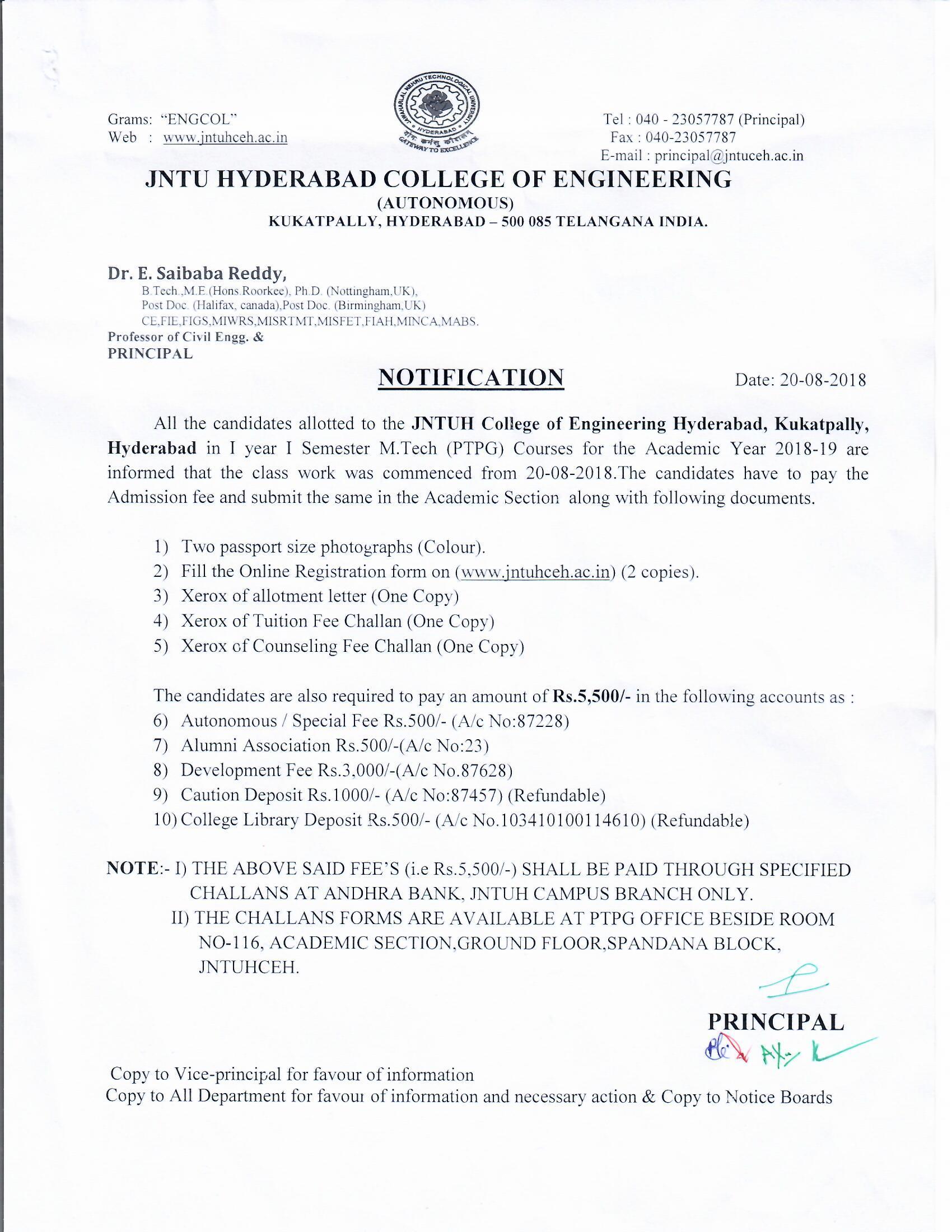 JNTUH College of Engineering Hyderabad (Autonomous)